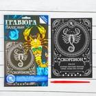 "Гравюра ""Скорпион"", металлический эффект ""серебро"", 15 х 21 см"