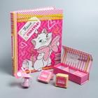 """Подарочный набор: фотоальбом 20 магнитн. листов, памятные коробочки в пенале и сувенирная соска """"Наше маленькое счастье!"""", Коты Аристократы, Кошечка Мари"""