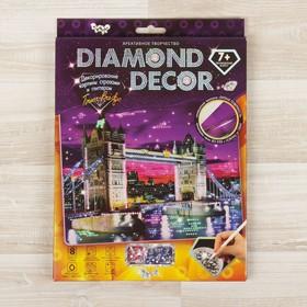 Набор для создания мозаики «Тауэрский мост» DIAMOND DECOR, планшетка без рамки