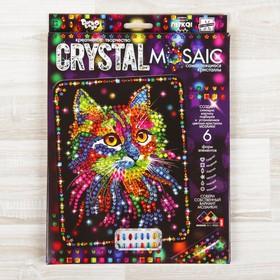 Набор для создания мозаики «Кот» CRYSTAL MOSAIC, на тёмном фоне
