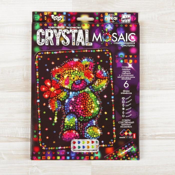 Набор для создания мозаики «Медвежонок» серии CRYSTAL MOSAIC, на тёмном фоне