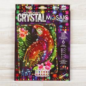 Набор для создания мозаики «Попугай» CRYSTAL MOSAIC, на тёмном фоне
