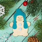 """Подвеска """"Снеговик в шапке с фетровыми накладками"""""""
