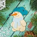 """Подвеска """"Снеговик с фетровыми накладками"""""""