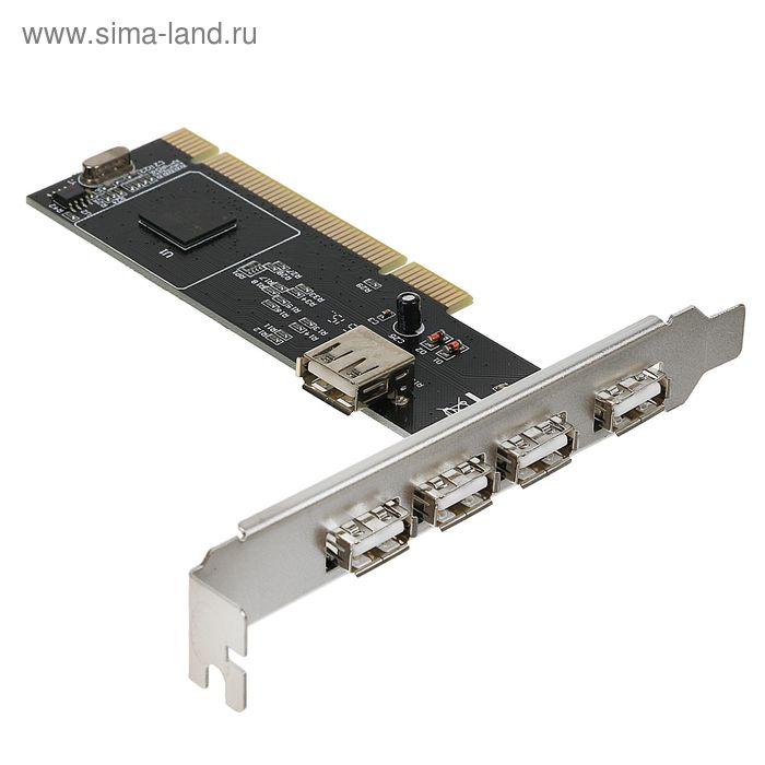Контроллер USB2.0 Gembird, в PCI, порты: 4 внешний + 1 внутренний