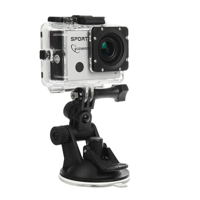 Экшн-камера Gembird ACAM-003, 8MP, 1920 x 1080 FHD, WIFI, ЖК дисплей 2.0