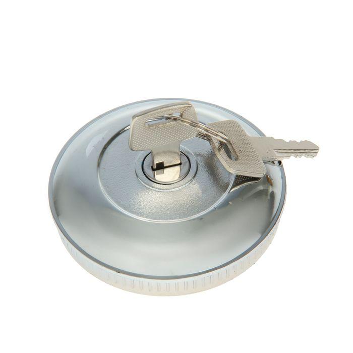 Крышка бензобака Nova Bright, с ключом, хром/пластик