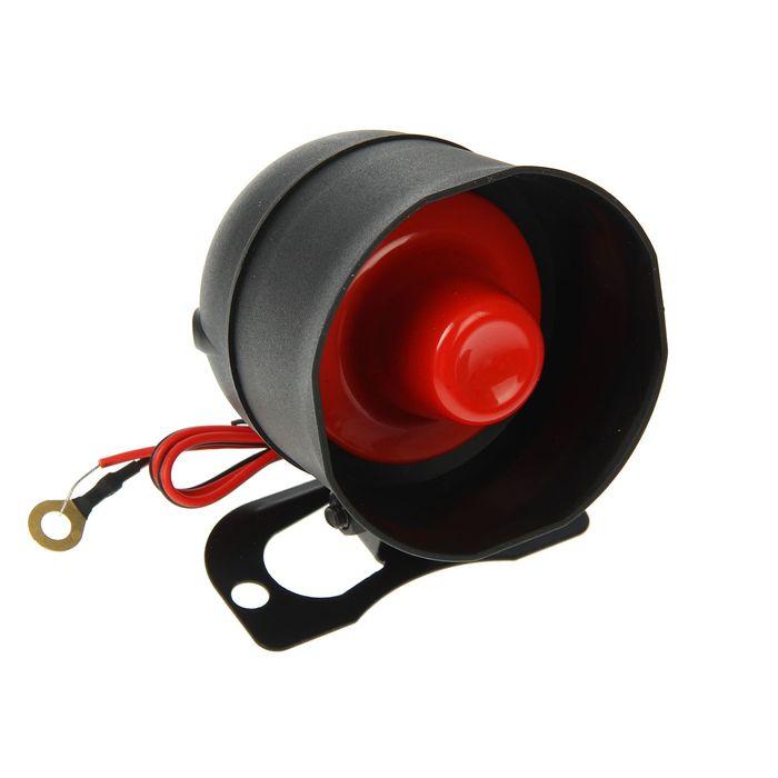 Сирена звуковая электрическая 12В, 20Вт, 6-ти тональная, 380-2854 Гц, 110дБ, 500-800 мА