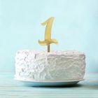 """Топпер в торт """"1"""""""
