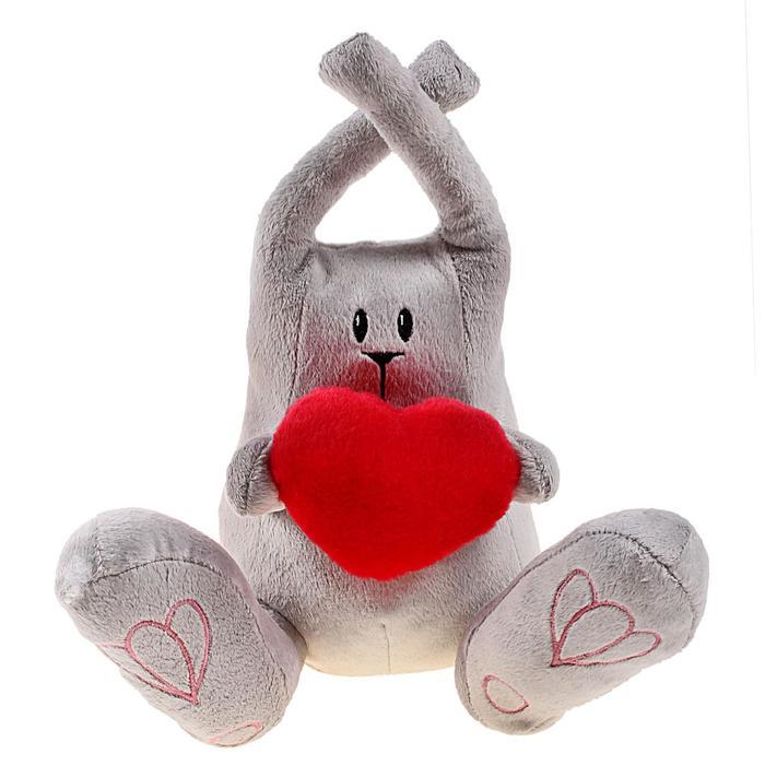 """Мягкая игрушка """"Зайчик Дюшес с сердцем"""""""