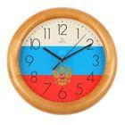 """Часы настенные круглые """"Флаг"""", деревянный обод, 30х30 см"""
