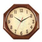 """Часы настенные восьмигранные """"Узор"""", деревянный обод, 30х30 см"""
