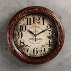 """Часы настенные круглые """"Элегия"""", деревянный обод, 30х30 см"""