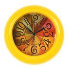 """Часы настенные круглые """"Палитра"""", жёлтый обод, 22х22 см"""