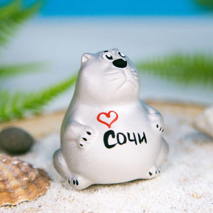Фигурка гипсовая кот-толстяк «Сочи. Сердце»