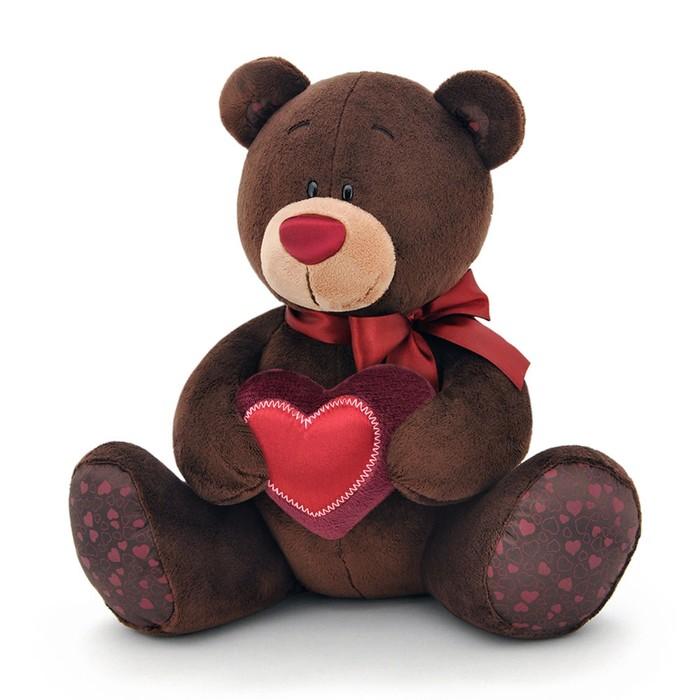 Мягкая игрушка «Медведь мальчик Choco с сердцем»