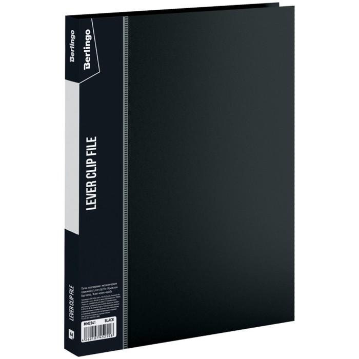 Папка с зажимом А4, 17 мм, 700 мкм Standard, чёрная