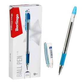 Ручка шариковая 0.4 мм, I-10, чернила синие, грип