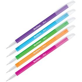 Ручка шариковая 0.7 мм, Slick, чернила синие, игольчатый стержень, микс