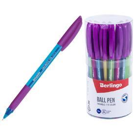 Ручка шариковая Triangle 110 Color, узел 0.7 мм, чернила синие, грип, микс