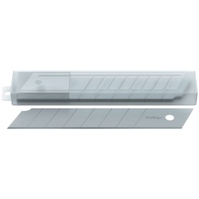 Лезвия для канцелярских ножей 18 мм, 10 штук в пластиковом пенале Ош