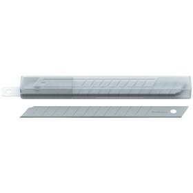 Лезвия для канцелярских ножей 9 мм, 10 штук в пластиковом пенале Ош