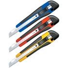 Нож канцелярский 9 мм Comfort, auto-lock, металлические направляющие, мягкие вставки, европодвес