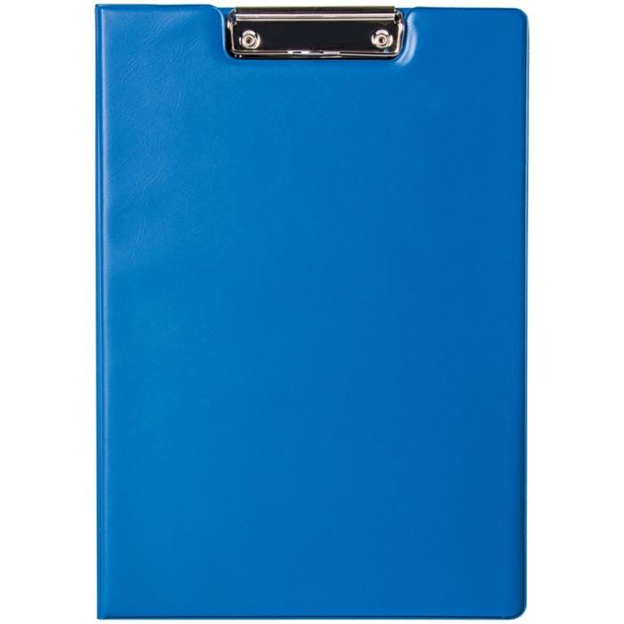 Папка-планшет с зажимом, ПВХ, синий