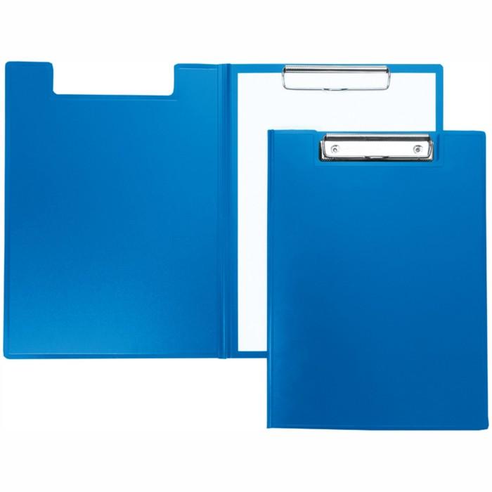 Папка-планшет с зажимом, пластик, синий