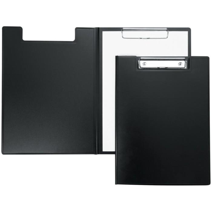 Папка-планшет с зажимом, пластик, чёрный
