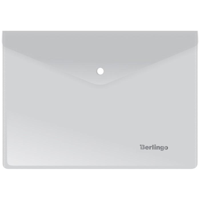 Папка-конверт на кнопке A5+, 180 мкм, матовая
