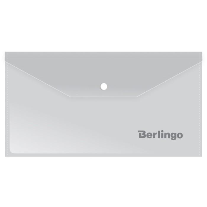 Папка-конверт на кнопке C6, 180 мкм, матовая