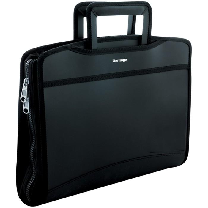 Папка-портфель 1 отделение Silk Touch, 700 мкм, чёрный
