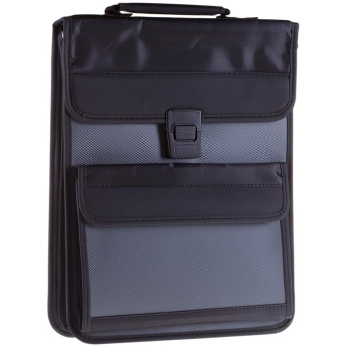 Сумка деловая 2 отделения Office Soft, полиэстер, тёмно-серый