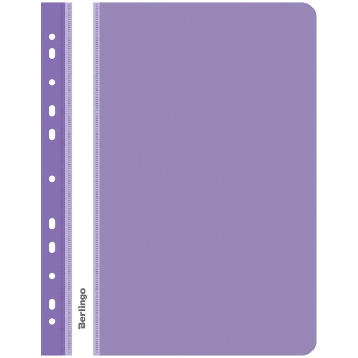 Папка скоросшиватель с перфорацией А4, 180 мкм Berlingo, фиолетовая, пластиковая, с прозрачным верхом