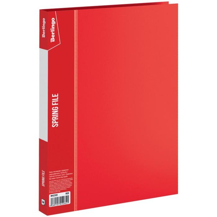 Папка c пружинным скоросшивателем А4, 17 мм, 700 мкм Standard, красная