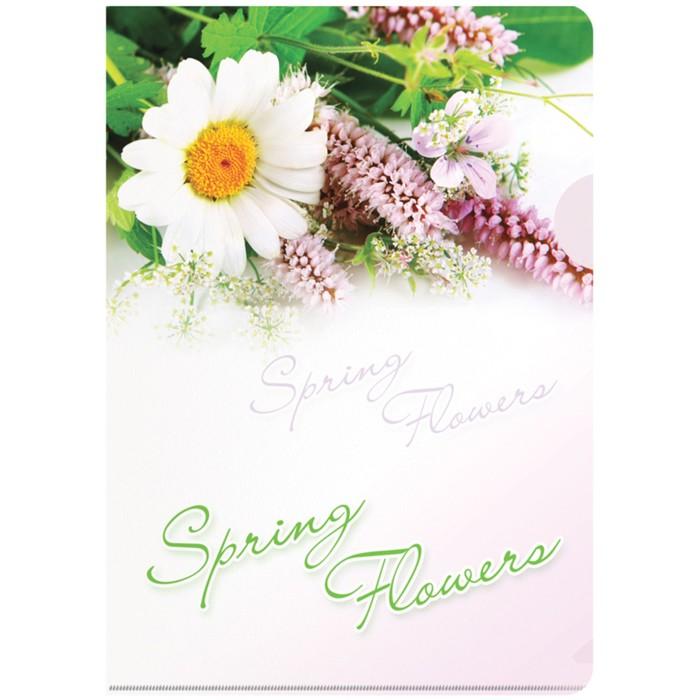 Папка-уголок А4, 180 мкм Spring Flowers