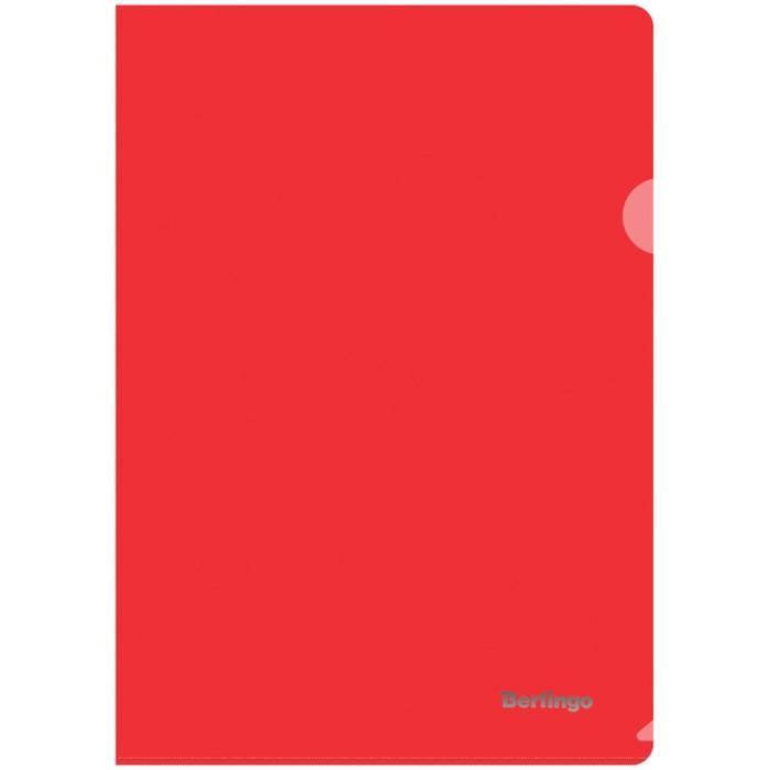 Папка-уголок А4, 180 мкм Berlingo, прозрачная красная