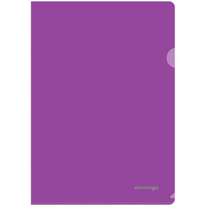 Папка-уголок А4, 180 мкм Berlingo, прозрачная фиолетовая