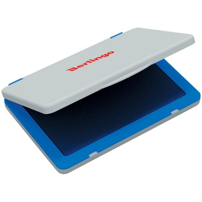 Штемпельная подушка 120х90 мм, синяя, пластиковая