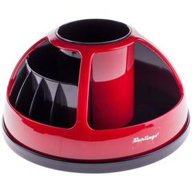 Настольная подставка Berlingo BR, вращающаяся, чёрный и красный цвета