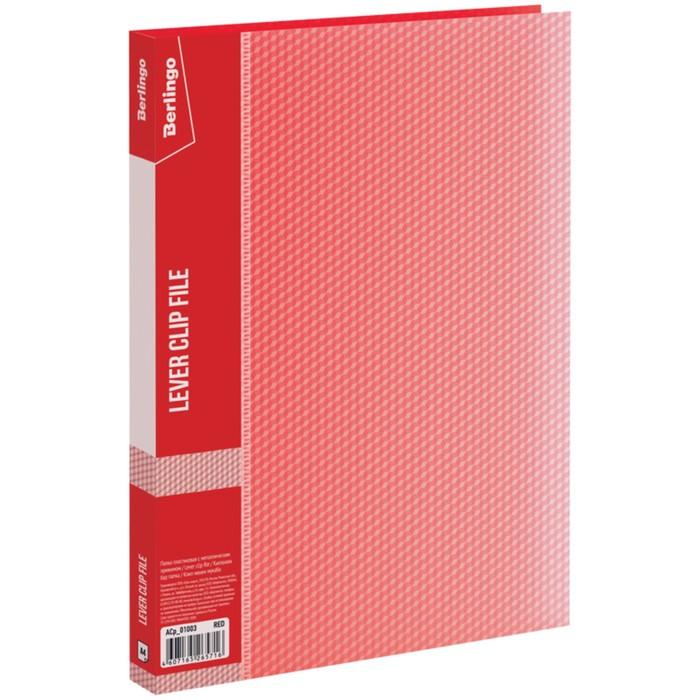 Папка с зажимом А4, 17 мм, 700 мкм Diamond, красная