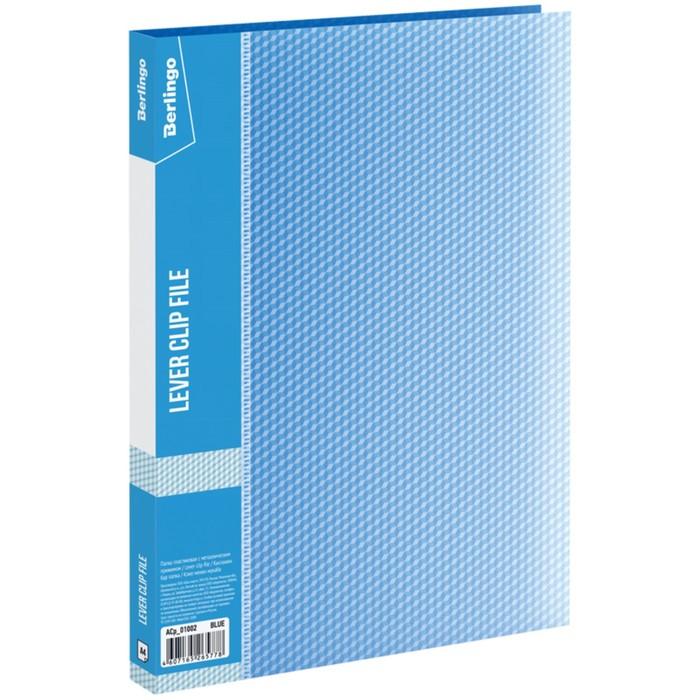 Папка с зажимом А4, 17 мм, 700 мкм Diamond, синяя