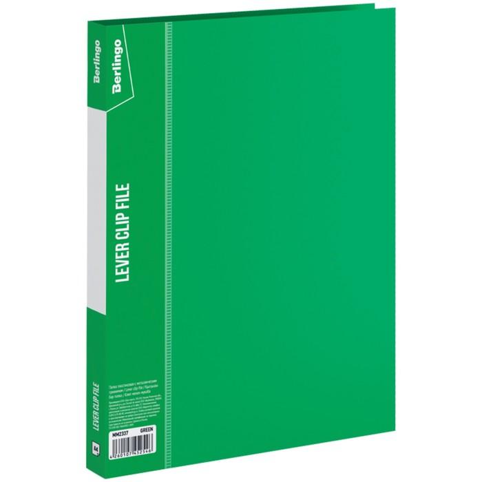 Папка с зажимом А4, 17 мм, 700 мкм Standard, зелёная