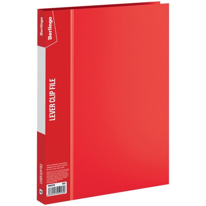 Папка с зажимом А4, 17 мм, 700 мкм Standard, красная