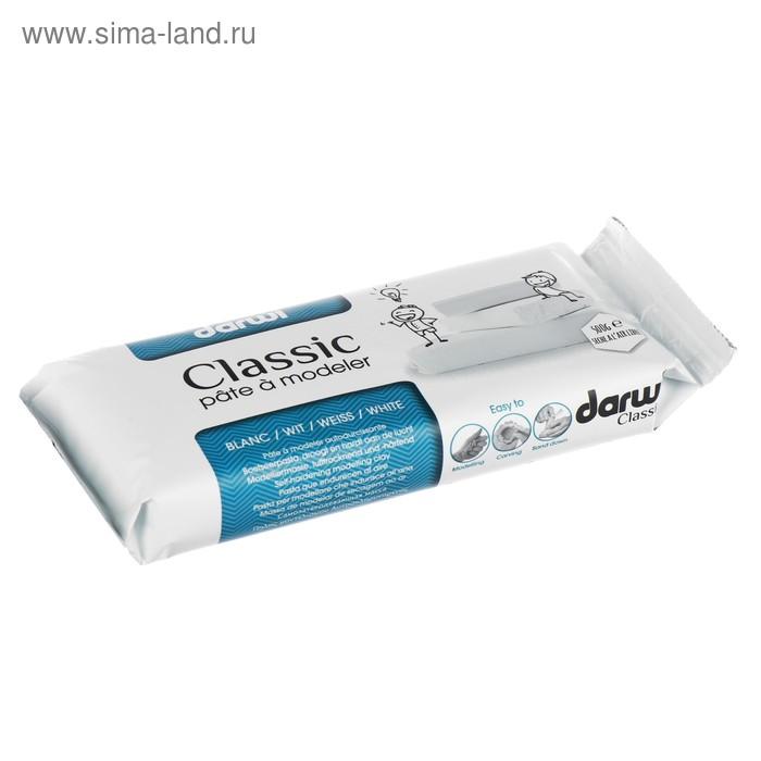 Масса для лепки отвердевающая полимерная DARWI CLASSIC, 500 г, белая (глина)