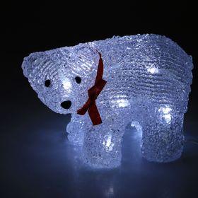 "Фигура акрил. ""Медвежонок на батарейках"" 19х9х11 см,(АА*2 шт.не в компл.), 12 LED"