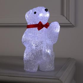 "Фигура акрил. ""Медвежонок на батарейках"" 11х10х20 см,(АА*2 шт.не в компл.), 10 LED"