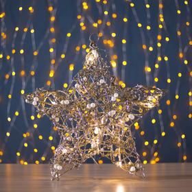 Фигура пласт. 'Звезда с шариками' 10х36х36 см,(3хАА не в компл.), 20 LED,ТЕПЛ. БЕЛЫЙ Ош