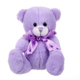 """Soft toy """"Bear tender"""" bow, traces, MIX colors"""